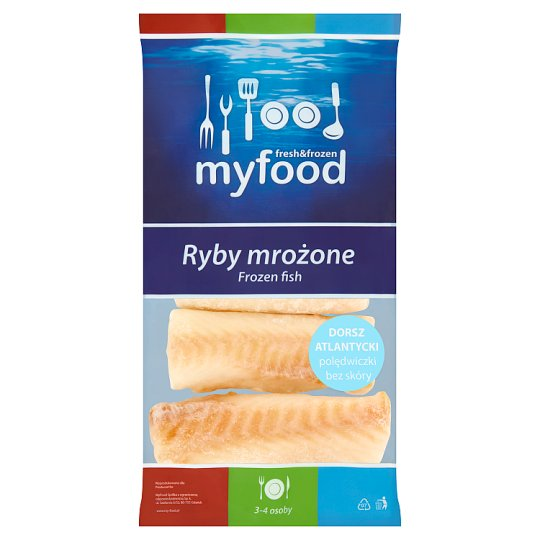 MyFood Frozen Fish Tenderloin without Skin Atlantic Cod 450 g