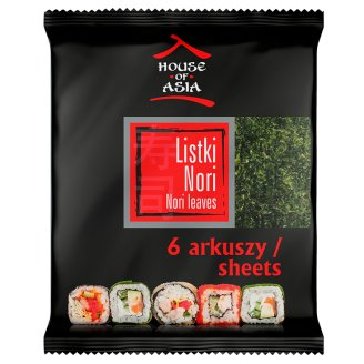 House of Asia Sushi Nori Roasted Seaweed Sheets 6 Pieces