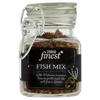 Tesco Finest Fish Mix with Wakame Seaweed and Lemon Peels 40 g