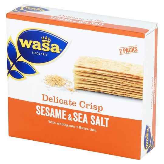 Wasa Ekstracienkie pszenne pieczywo chrupkie z sezamem i solą morską 190 g