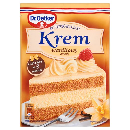 Dr. Oetker Vanilla Flavour Cream for Cakes 120 g