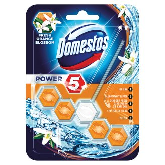 Domestos Power 5 Fresh Orange Blossom Toilet Block 55 g