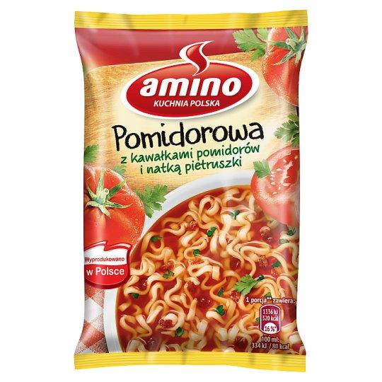 Amino Zupa błyskawiczna pomidorowa z kawałkami pomidorów i natką pietruszki 61 g