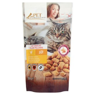 Tesco Pet Specialist Karma dla dorosłych kotów ciasteczka z nadzieniem drobiowo-serowym 50 g