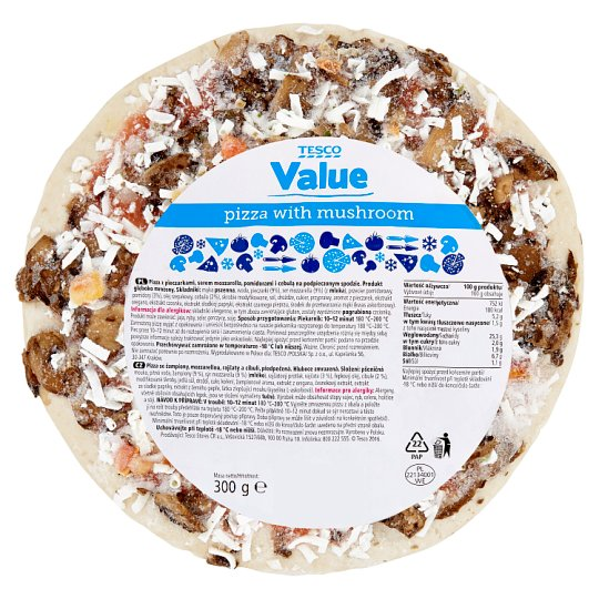 Tesco Value Pizza z pieczarkami 300 g