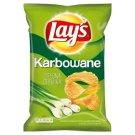 Lay's Karbowane o smaku Zielona Cebulka Chipsy ziemniaczane 150 g