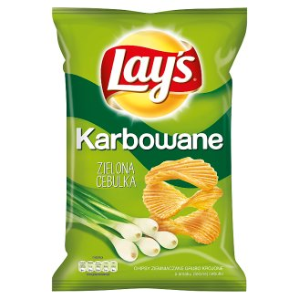 Lay's Karbowane Spring Onion Flavoured Potato Crisps 150 g