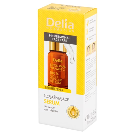 Delia Cosmetics Brightening Face & Neckline Serum 10 ml