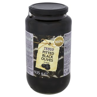 Tesco Pitted Black Olives in Brine 935 g