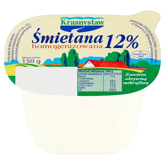 Krasnystaw Śmietana 12% homogenizowana 150 g