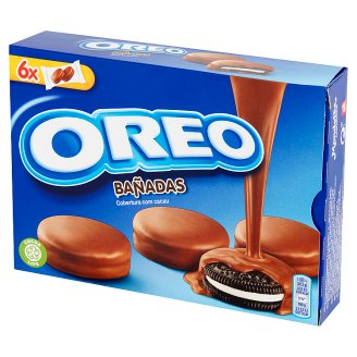 Oreo Cocoa Sandwich Biscuits with Vanilla Flavoured Filling in Milk Chocolate 246 g (6 Sachets)