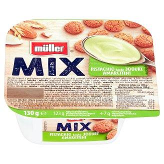 Müller Mix Jogurt o smaku pistacjowym z ciasteczkami amarettini 130 g