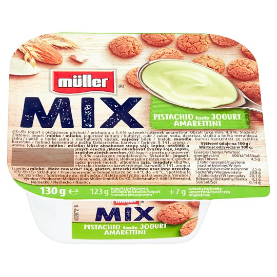 Müller Mix Pistachios with Almond Cookies Flavoured Yoghurt 130 g