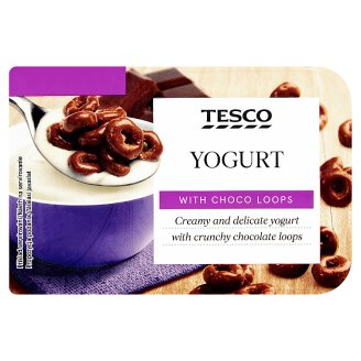 Tesco Jogurt z kółeczkami zbożowymi w czekoladzie mlecznej 150 g