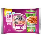 Whiskas Junior Stew in Jelly Fish and Traditional Flavors Complete Cat Food 340 g (4 x 85 g)