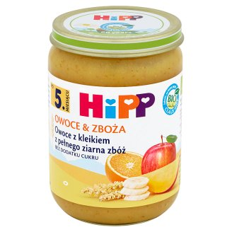 HiPP BIO Owoce & Zboża Fruits with Whole Grain Cereal Gruel after 5 Months Onwards 190 g