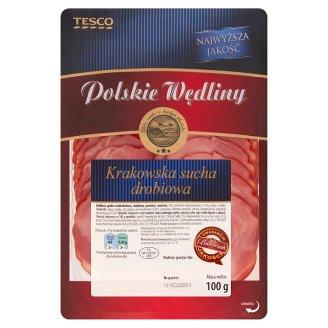 Tesco Polskie Wędliny Kiełbasa Krakowska sucha drobiowa 100 g