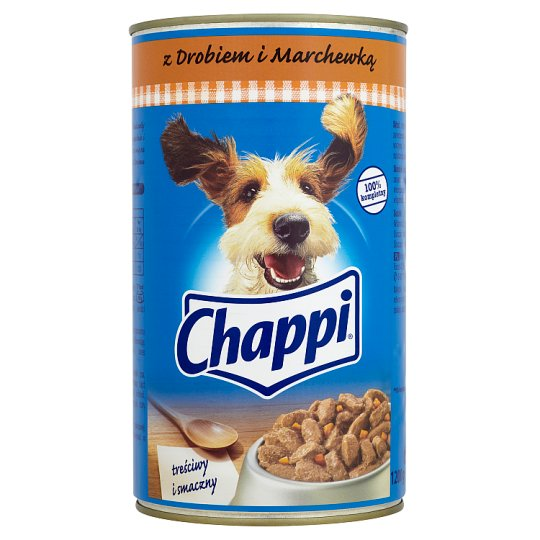 Chappi Complete Food for Adult Dogs with Poultry and Carrot 1200 g