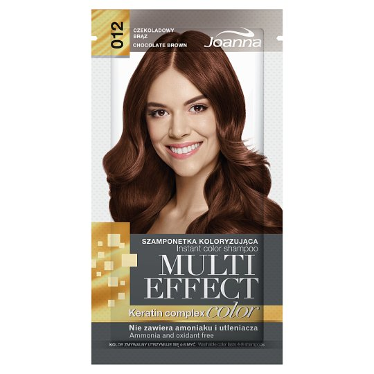 Joanna Multi Effect color Instant Color Shampoo Chocolate Brown 012 35 g