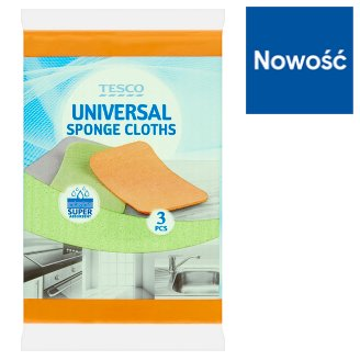 Tesco Universal Sponge Cloths 3 Pieces