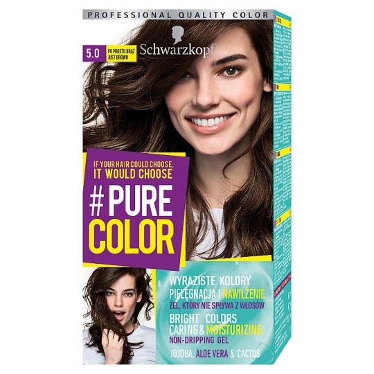 Schwarzkopf #Pure Color Farba do włosów 5.0 po prostu brąz
