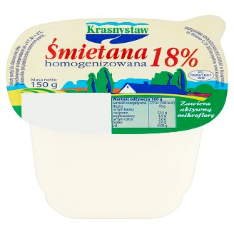 Krasnystaw Homogenized 18% Cream 150 g