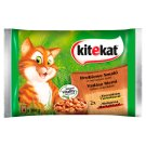 Kitekat Chicken Flavors in Juicy Sauce Complete Cat Food 400 g (4 x 100 g)