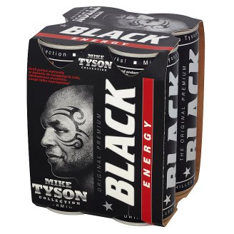 Black Energy Drink 1 L (4 Pieces)