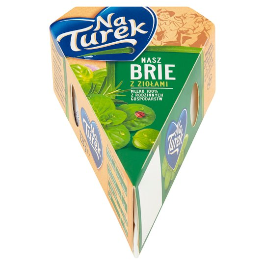 NaTurek Nasz Brie with Herbs Cheese 125 g