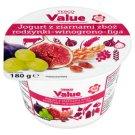 Tesco Value Jogurt z ziarnami zbóż rodzynki winogrono figa 180 g