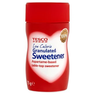 Tesco Granulated Sweetener Aspartame-Based 75 g