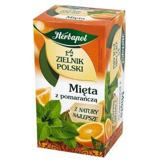 Herbapol Zielnik Polski Mint with Orange Flavoured Tea 30 g (20 Tea Bags)