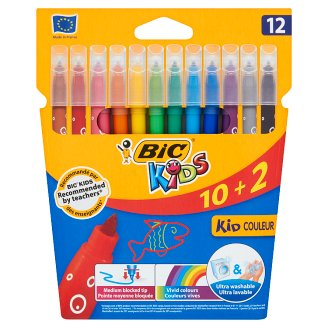 Bic Kids Ultra Washable Colouring Felt Pens 12 Colours