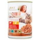 Tesco Pet Specialist Karma dla dorosłych kotów kawałki z wołowiną i drobiem w sosie 415 g
