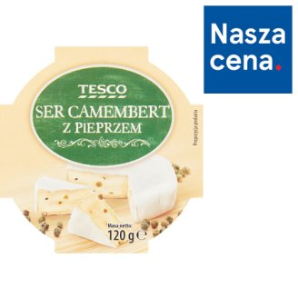 Tesco Camembert Cheese with Pepper 120 g