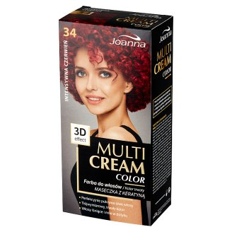 Joanna Multi Cream color Hair Colorant Cinnamon 34 Intense Red