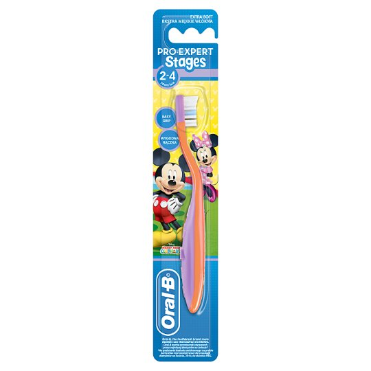 Oral-B Stages Kids Manualna szczoteczka do zębów z Myszkami Miki i Minnie, 2–4lata
