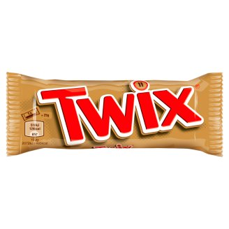 Twix Cookie Bar with Caramel Covered with Milk Chocolate 50 g (2 Pieces)