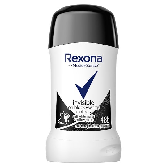 Rexona Invisible Black+White Antyperspirant w sztyfcie 40 ml