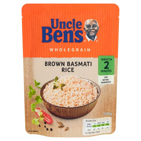 Uncle Ben's Wholegrain Brown Basmati Rice 250 g