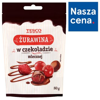Tesco Cranberry in Milk Chocolate 80 g