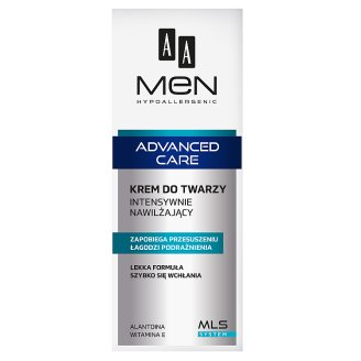AA Men Hypoallergenic Advanced Care Intensely Moisturizing Face Cream 75 ml