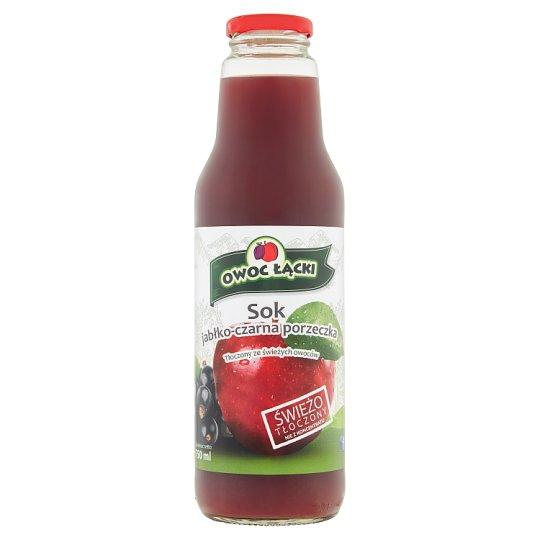 Owoc Łącki Sok jabłko-czarna porzeczka 750 ml