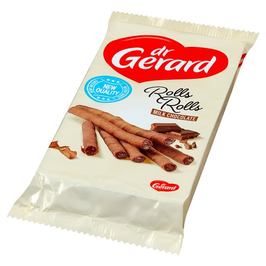 dr Gerard Rolls Rolls Cocoa Wafer Rolls with Milk Chocolate Cream 160 g