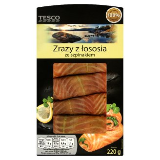 Tesco Salmon Slips with Spinach 220 g