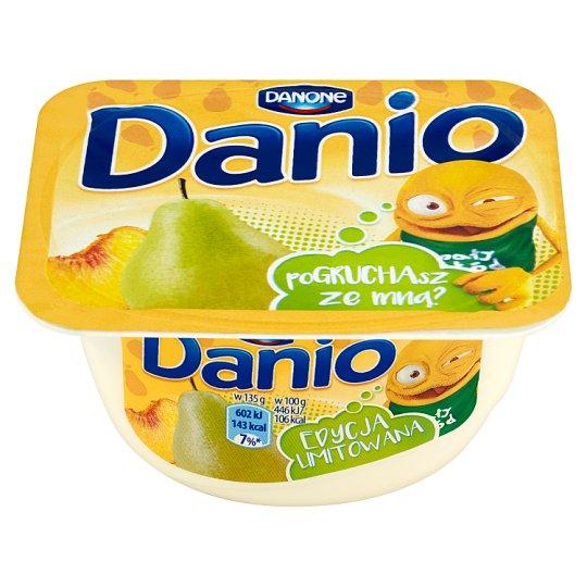 Danone Danio Serek homogenizowany gruszkowo-brzoskwiniowy 135 g