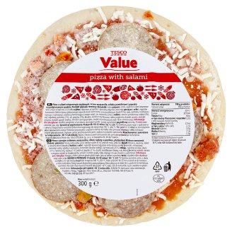 Tesco Value Pizza with Salami 300 g