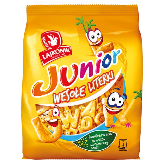 Lajkonik Junior Wesołe Literki Salted Crackers 140 g
