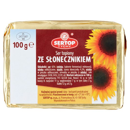 Sertop Tychy Creamy Spread Cheese with Sunflower Seeds 100 g