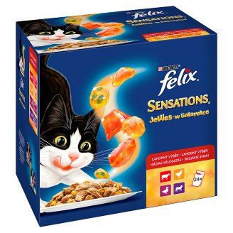 Felix Sensations Country Tastes in Jelly Food for Adult Cats 2400 g (24 x 100 g)
